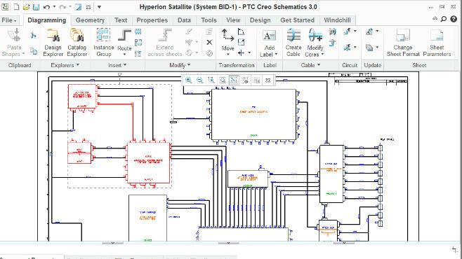 Creo 2D kapcsolas rajz blokkdiagram szerkesztes