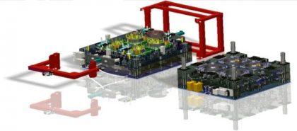 Plastic-Form Szerszámgyártó Kft. - Autóipari műanyag fröccsöntő szerszám – hangszóró kosár