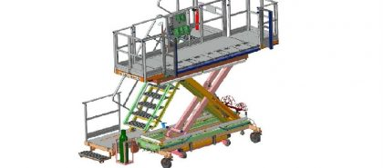 GD Gép és Daru Kft. - Hidro-pneumatikus működésű emelőasztal