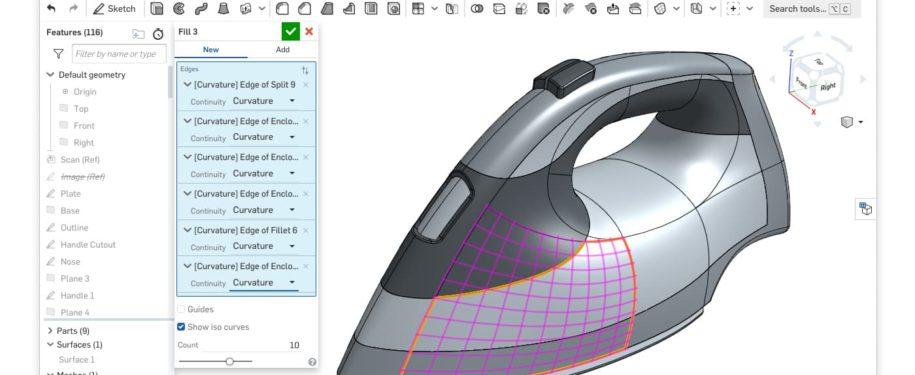 Onshape-product-design-ipari-formatervezās