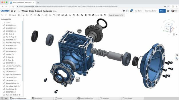 exploded-assembly-view-in-onshape-osszeallítas